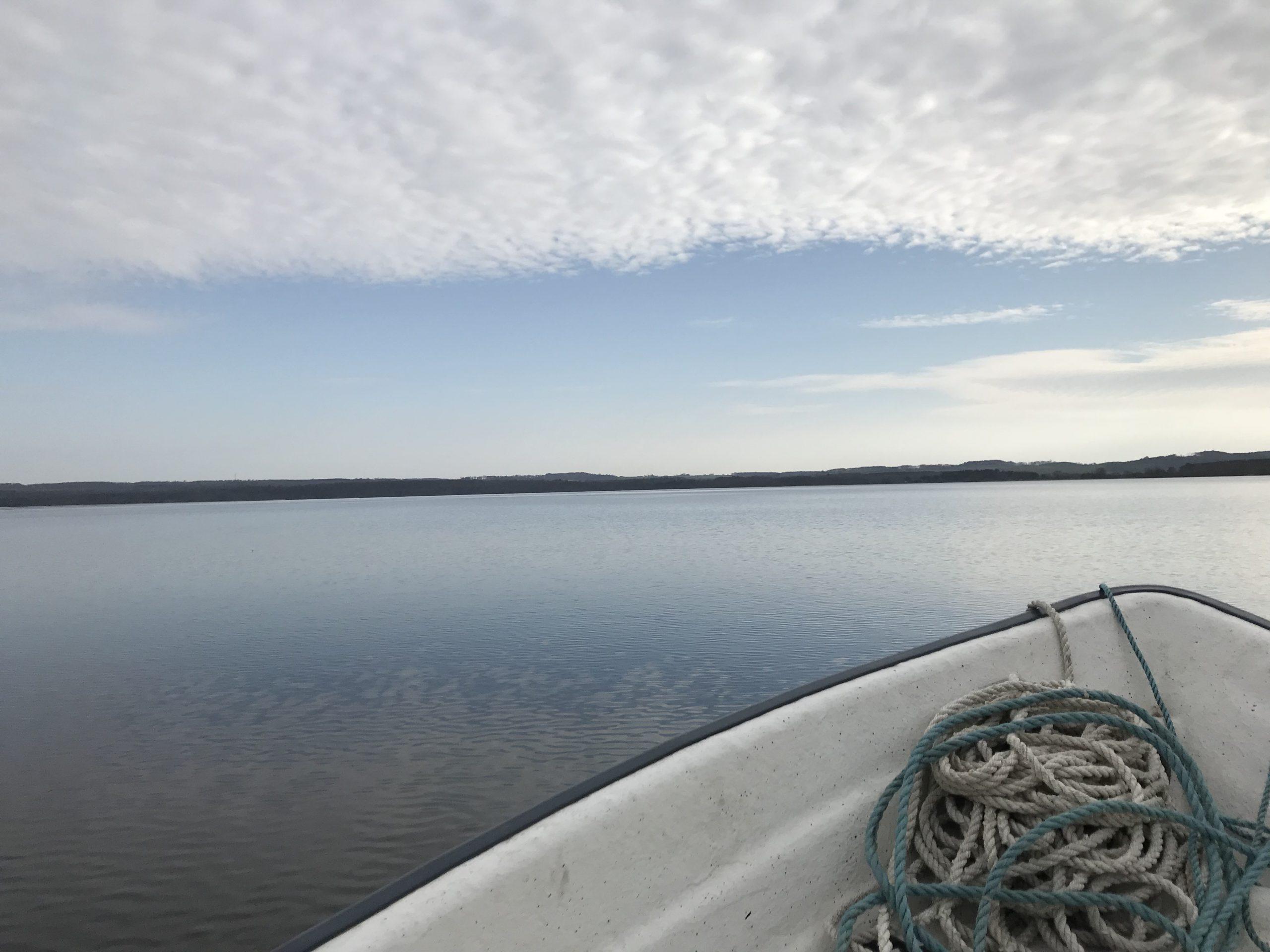 Provtagning på Vombsjön