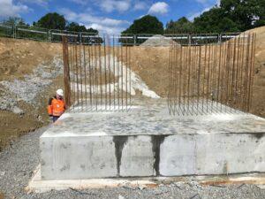 Inspektion av betongplatta och skyddsplatta