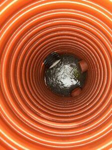 Insidan av ett vattenrör