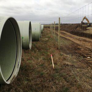 Råvattenrör och staket