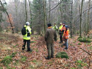 Möte i skogen med berörda markägare