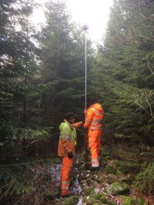 Mätningar i skog