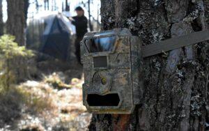 Kamouflagefärgad rörelsekamera för Lifeplan. Fotograf: Lennart Hildingsson/ Hallandsposten