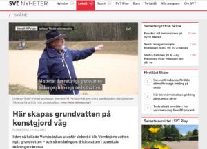 Skärmdump från artikeln på svt.se