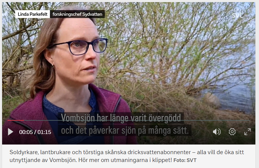 Linda Parkefelt, forskningschef Sydvatten