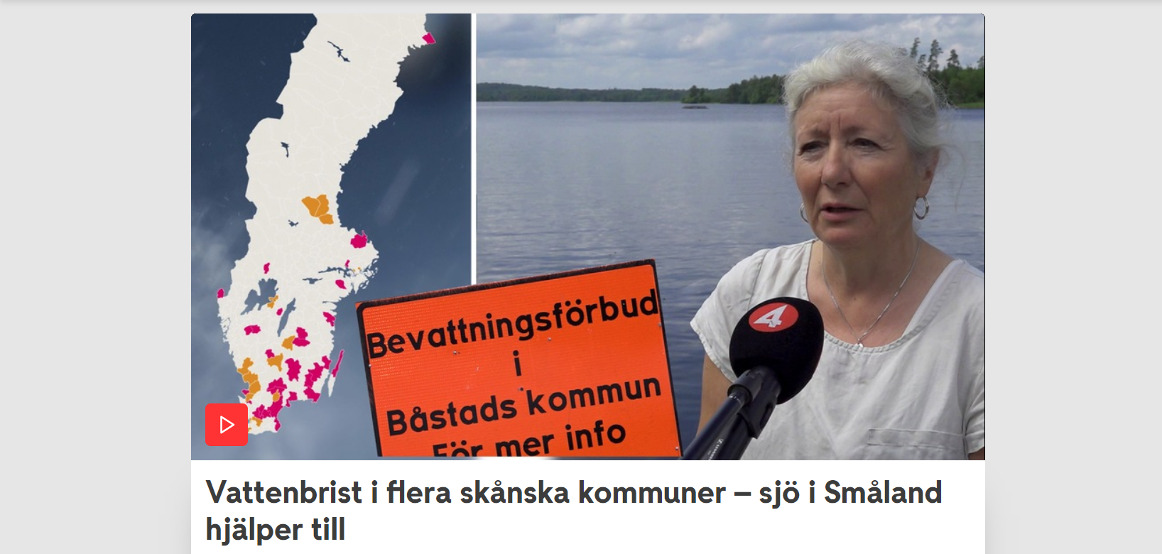 Sverigekarta och bild på Marie Nordkvist