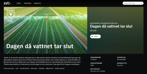 SVTs dokumentär Dagen då vattnet tar slut
