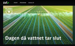 SVT dokumentär Dagen då vattnet tar slut
